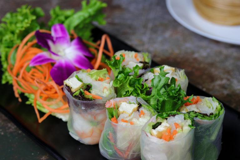 Fresh Rolls Prawns at the Baan Thai cuisine