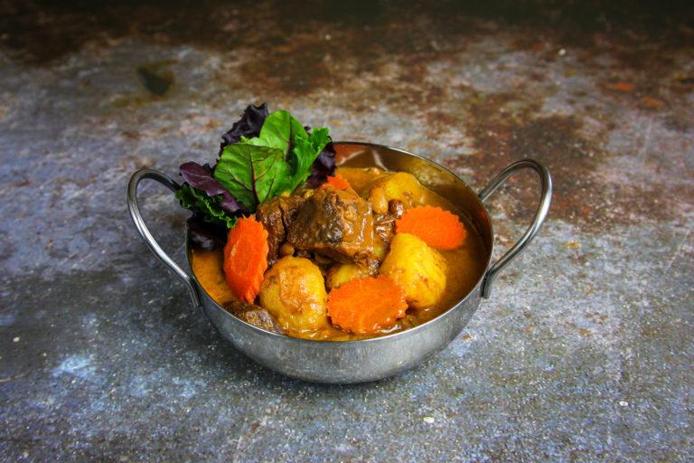 Matsaman Curry Beef at the Baan Thai cuisine in San Anselmo