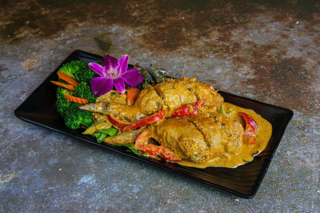 Angel Wing In Panang at the Baan Thai cuisine in San Anselmo