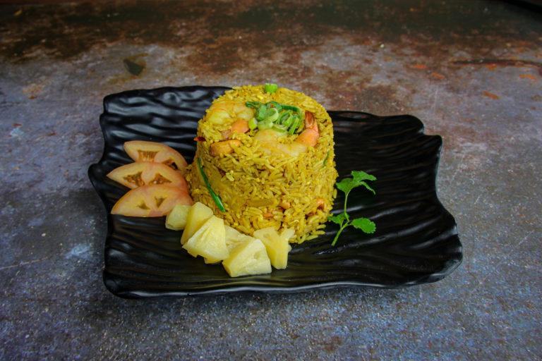 Pineapple fried rice at the Baan Thai cuisine in San Anselmo