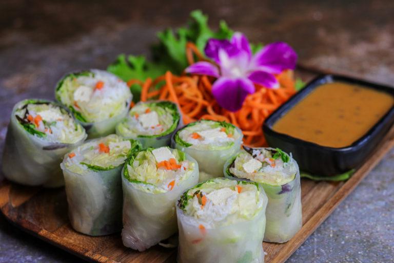 Fresh Spring Rolls Tofu at the Baan Thai cuisine
