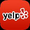 yelp logo at the Baan Thai cuisine